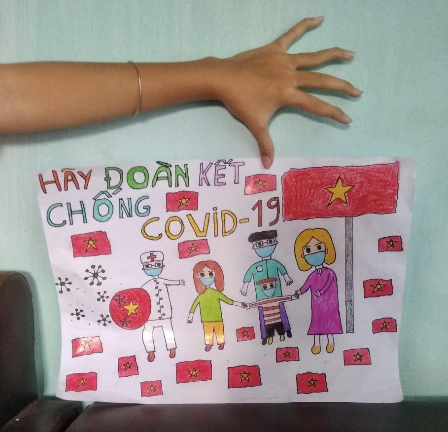 Một tác phẩm của em Nguyễn Ngọc Bảo Tiên gửi về cuộc thi. Ảnh: NVCC