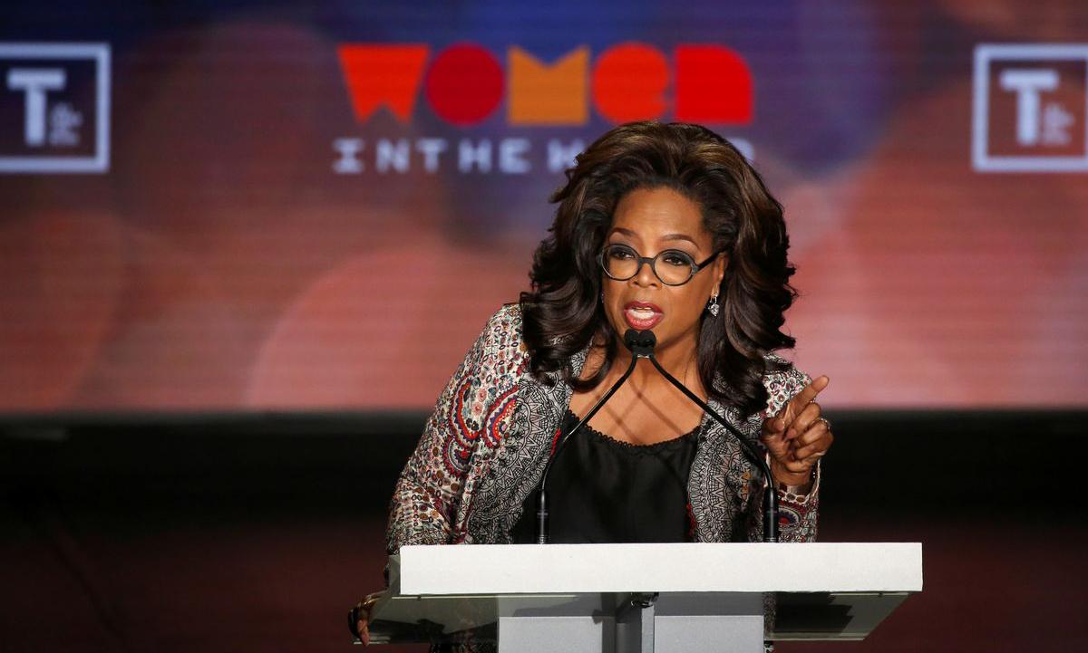 Oprah Winfrey phát biểu tại sự kiện ở New York, Mỹ hồi tháng 4/2019. Ảnh: Reuters.