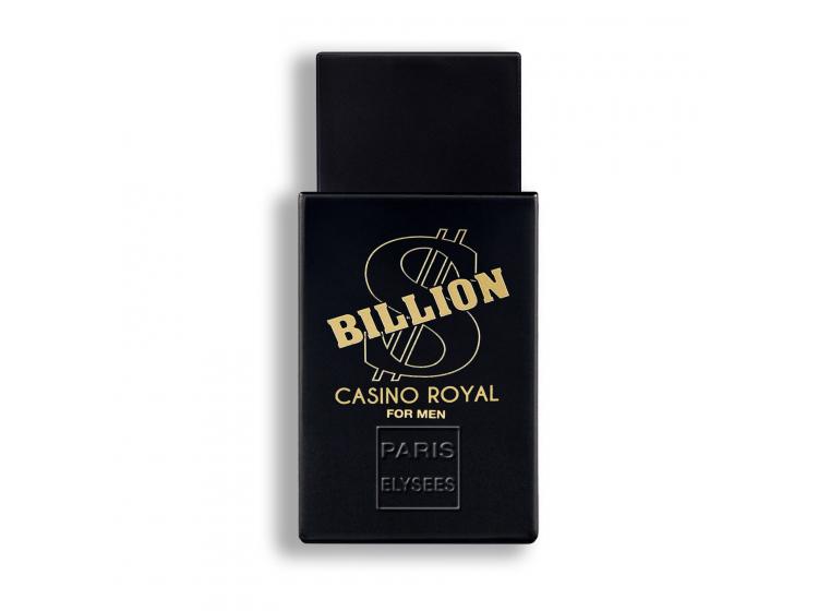 Nước hoa Paris Elysees Billion Casion Royal màu đen được đánh giá là loại nước hoa cổ điển được tái tạo cho người đàn ông hiện đại. Sản phẩm thuộc nhóm hương phương Đông, dương xỉ với hương đầu là sự kết hợp của hoa cam và cam Bergamot, hương giữa là hương thảo, nhục đậu khấu, ngò thơm, hoa oải hương. Và cuối cùng đọng lại là hương đậu Tonka, hương gỗ. Lọ 100 ml đang được ưu đãi 45% còn 599.000 đồng.
