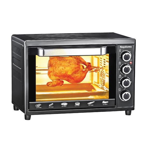 Lò nướng Nagakawa 38 lít NAG3238 có giá 1,499 triệu đồng. Tặng kèm bếp từ đơn và nồi lẩu inox khi mua lò nướng trên Shop VnExpress. Lò có chế độ hẹn giờ và điều chỉnh nhiệt độ. Quạt đối lưu khí nóng giúp thức ăn chín nhanh. Nướng, quay thực phẩm không sinh ra khói, nhiều chế độ nướng tiện dụng, đèn chiếu sáng trong lò dễ dàng quan sát.