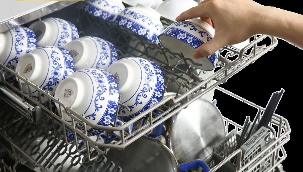 Máy rửa bát Nagakawa NK8D01M có 6 chương trình rửa giảm 21% còn 9,68 triệu đồng; có sức chứa 8 bộ bát đĩa theo tiêu chuẩn châu Âu; giá xếp đồ thiết kế riêng biệt, dễ dàng sử dụng, phù hợp với bát đĩa của người châu Á. Máy có 6 chương trình rửa tiện ích. Bảo hành 2 năm.