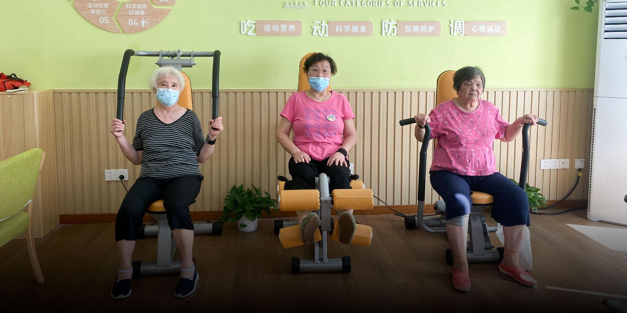 Trung Quốc triển khai mô hình Ngân hàng thời gian để giảm tải áp lực già hóa dân số. Ảnh: Sixthtone