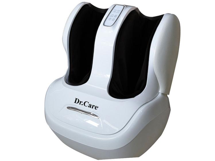 Máy massage chân Dr.Care DR-FM333 làm từ da PVC và ABS composite, sơn theo công nghệ sơn ôtô với độ bền 15 năm. Kỹ thuật massage HLME bao gồm rung, lăn, xoa, vuốt, miết, chà xát, cuộn tròn, ấn huyệt bắp chân và lòng bàn chân, chăm sóc từng ngón chân, thông qua các con lăn 3D và túi khí. Máy tích hợp chương trình massage trị liệu theo các bài tập của các chuyên gia sức khỏe và bác sỹ tại Mỹ. Các chương trình massage có thể điều khiển qua màn hình cảm ứng. Sản phẩm sử dụng nguồn điện 220 V, bảo hành 1 đổi 1 trong vòng một năm, có thể kiểm tra hàng chính hãng bằng dãy số seri trên trang web tại Mỹ. Giá niêm yết 15 triệu đồng, hiện giảm 47% còn 7,99 triệu đồng. Ngoài màu trắng, sản phẩm còn có màu đen.